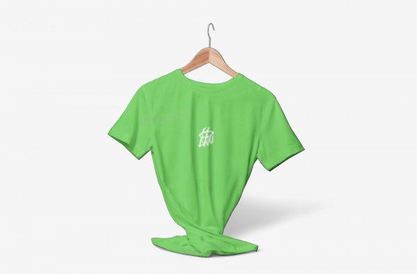 تیشرت پنبه ای ساده بیسیک سبز فسفری